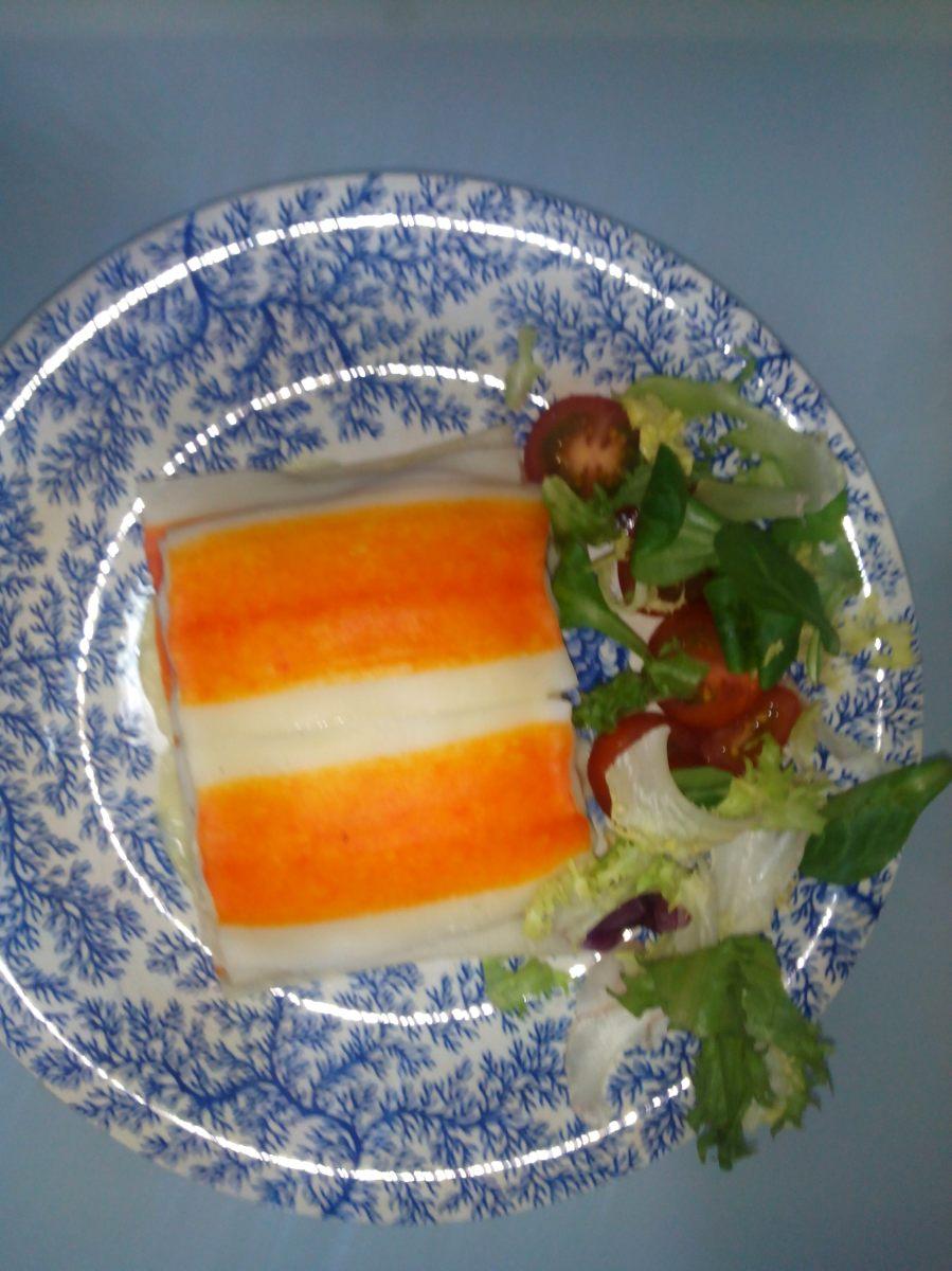 Lasaña de surimi